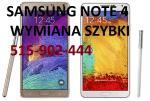 Samsung Note 4 Note 2 Note 3 wymiana szybki wyswietlacza