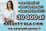 KREDYT dla FIRM na OŚWIADCZENIE! 30 000 zł bez PITu i KPiR!